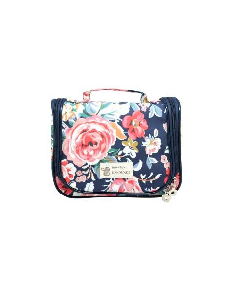 Beauty Organizer - Navy Flower
