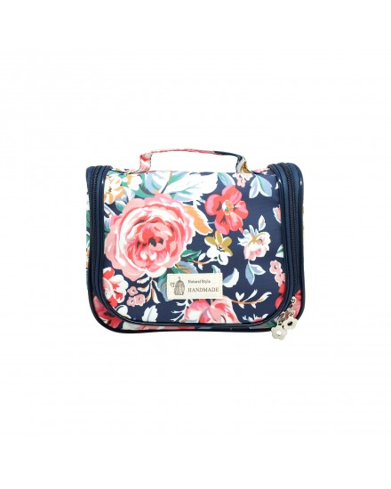 Beauty Organizer - Navy Flower