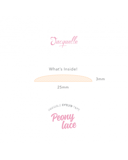 Lace Invisible Eyelid Tape - Peony Lace