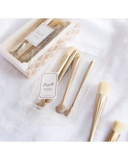 Sea Shell Makeup Brush Set 2 (Without Foundation Brush)
