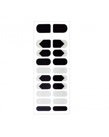 Nail Sticker - Black and White