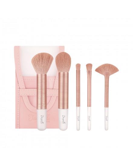 Jacquelle Rose Golden Travel Size Brush Set