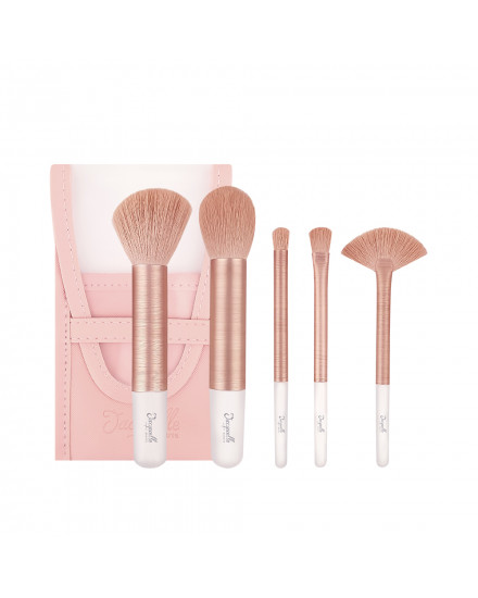 Jacquelle Rose Golden Travel Size Brush Set