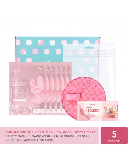 Bundle Jacquelle Disney Minnie Mouse Edition Primer Lipo Mask - Sheet Mask