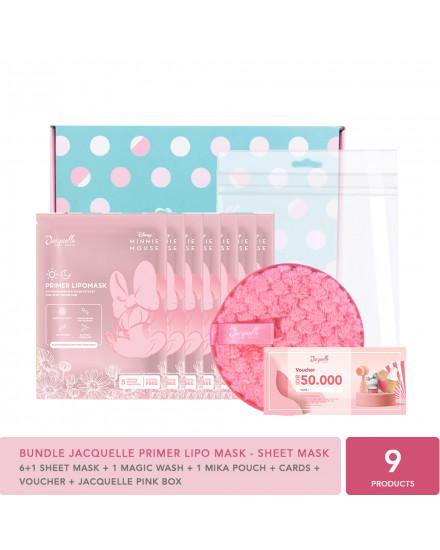 BUY 6 FREE 1 - Jacquelle Disney Minnie Mouse Edition Primer Lipo Mask - Sheet Mask Bundle