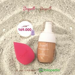 New shades of Jacquelle Blur Effect Foundation is now available at @tokopedia! 🥳❤️Check out these amazing deals! - Launching Price 169k dari 179k FREE EggGang Beauty Sponge worth 69k (without case) - Storewide vouchers disc 20%, min purchase 120k - Bundling with Dream Big Brush set 299k from 356kAll 7 shades: Shell, Sun (New), Golden, Vanilla (New), Sand, Tan, Warm Tan (New)CLAIMS of our bestseller skincare-in-foundation 👀: - Mengandung 2% Niacinamide, Allantoine dan Caffein, beserta UV protection ☀️ - Lightweight and satin coverage yang menyamarkan pori-pori dan membuat wajah terlihat sehat natural - Ringan dan nyaman di wajah, cocok untuk daily makeup - FREE Egg Gang beauty sponge for every purchase!Yuk langsung buka app @tokopedia kamu and try it yourself the real paris filter LIVE on your face! 🛍